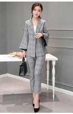 Sincere Formal Blue Striped Blazer Women Business Suits With 3 Piece Pant Back To Search Resultswomen's Clothing Waistcoat And Jacket Sets Ladies Work Wear Uniforms Last Style