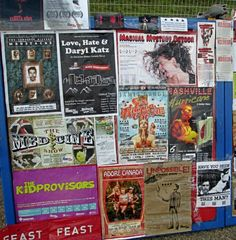 Posters at the 2013 Edmonton International Fringe Festival.