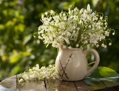 Lily of the Valley provides fragrance along with its delicate white blossoms if you want an arrangement with a great scent...