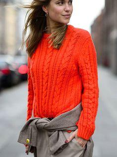 Orange + marron ultr