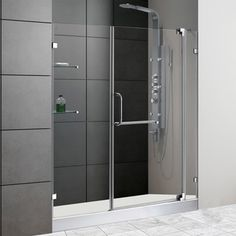 Shower door from Costco only 32 inches wide though House