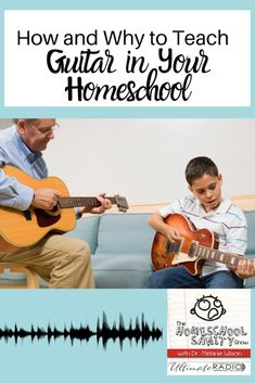 How And Why To Teach Guitar In Your Homeschool Have you wondered which musical instrument to teach your homeschooler? Inga Hope makes a great case for the guitar. Homeschool High School, Homeschool Curriculum, Homeschooling Resources, Teaching Music, Teaching Kids, Learning Guitar, Music Activities, Music Lessons, Guitar Lessons