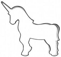 Ausstecher Ausstechform Einhorn 11 cm Edelstahl Pferd