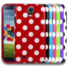 This Cute Polka Dot Samsung Galaxy S4 i9500 Cases ensures stylish look, and all-around protection while maintaining accessibility of functions.