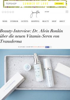 Transderma Skin Care Hanna Schumi Interviews Dr. Alvin Ronlán (Journelles.de 30 June, 2015) http://www.mytransderma.com/beautifulskin/hanna-schumi-interviews-dr-alvin-ronlan-journelles-de-30-june-2015/