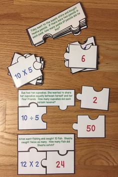 Looking for a fun teaching idea for word problems? Well look no further as Multiplication and Division Word Problems Game Puzzles, for CCSS 3.OA.3, will serve as an exciting lesson for 3rd grade elementary school classrooms. This is a great resource for a guided math center rotation, review exercise, small group work and for an intervention or remediation. I hope you download and enjoy this engaging hands-on manipulative activity with your students! #mathgamesfor3rdgrade