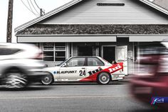 Blaupunkt BMW E30 M3 shot for CG Motorsports. #BMW #E30 #M3