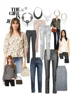 """""""The GirlinJeans"""" by lalu-papa on Polyvore featuring IRO, Isabel Marant, Dolce&Gabbana, 7 For All Mankind, M.i.h Jeans, Pierre Balmain, Jérôme Dreyfuss, Halston Heritage, Theia Jewelry and Kenneth Jay Lane"""
