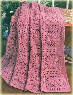 Receitas de Crochet: Mantas de crochet