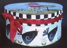 Country Home Wedgewood Box by popular decorative artist Shara Reiner! http://www.hofcraft.com/ptrs938-country-home-wedgewood-box-packet.html