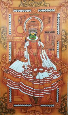 Vandana Puthanveettil comes with an elaborate Pastime: she is really a part-time solo dancer. Mysore Painting, Kerala Mural Painting, Tanjore Painting, Indian Art Paintings, Kalamkari Painting, Ancient Indian Art, Indian Folk Art, Native Indian, Traditional Paintings