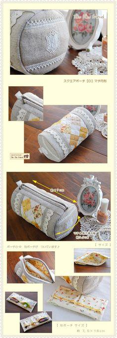 【型紙】スクエアポーチ 5型セット - ** ちくちくふれんど ** online shop