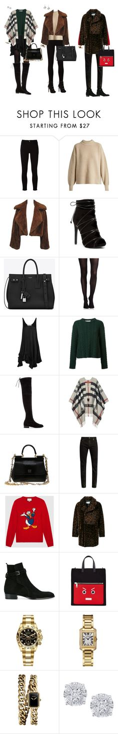 """""""My winter"""" by ivan-caravantes ❤ liked on Polyvore featuring Frame, The Row, Yves Saint Laurent, SPANX, STELLA McCARTNEY, Ryan Roche, Stuart Weitzman, Burberry, Dolce&Gabbana and Gucci"""