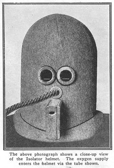 This is a blast of science fiction from the past. In Science and Invention Magazine editor Hugo Gernsbeck invented the Isolator helmet to encour Pseudo Science, Weird Science, Science Books, Science Fiction, Medical Science, Jeff Koons, Ronald Mcdonald, Arte Pop, Shandy