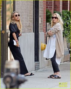 Mary-Kate & Ashley Olsen Take a Break Outside Their Office | mary kate and…