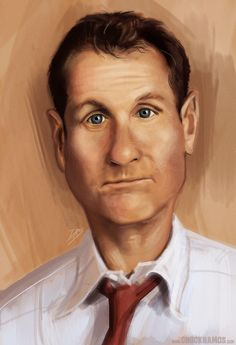 Al Bundy caricature by ChuckRamos.deviantart.com on @deviantART