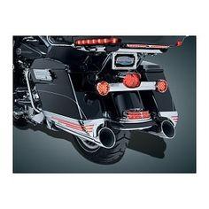 Kuryakyn LED Saddlebag Extensions For Harley Touring 2014-2016 (Finish: Chrome w/Red Lenses)