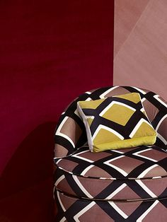 """India Mahdavi teams up with Pierre Frey for a colourful """"True Velvet"""" fabric collection Unique Home Decor, Cheap Home Decor, Pierre Frey Fabric, Studios, Christian Liaigre, Custom Carpet, French Fabric, Home Improvement Projects, Art Deco"""