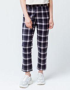 2a7c8829f SKY AND SPARROW Plaid Womens Crop Trouser Pants Trouser Pants, Cropped  Trousers, Pajama Pants