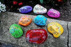 22 DIY Mothers Day Gift Ideas | Simple Stones into Garden Markers | Homemade Mothers Day Gifts from Kids