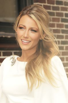 Blake Lively. Love her natural makeup look!!!