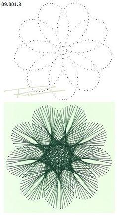 Rit Vanschoonbeek 09.001.3 borduren op papier                                                                                                                                                                                 More