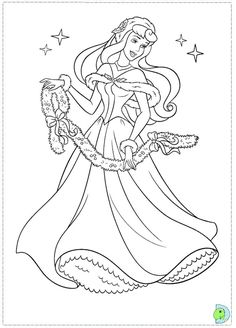 Free #Christmas Disney Princess Coloring Pages