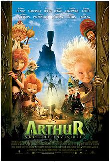 In 1960, 10-year-old Arthur lives with his grandmother in the country. His grandfather Archibald has recently gone missing and he sees little of his parents. They will lose the house unless Arthur can find Archie and the hidden treasure he brought back from Africa within 2 days. Archie has left clues in the house for Arthur, taking him on a fantastical adventure involving heroic and villainous animated characters. Freddy Highmore makes a delightful Arthur, with some famous names as voices.