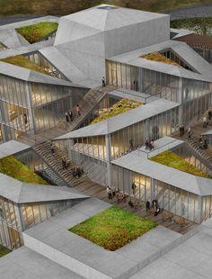 Competition Entry: Istanbul Gülsuyu Cemevi and Cultural Center,Terraced Landscape. Image Courtesy of Melike Altınışık Architects + Gül Ertekin