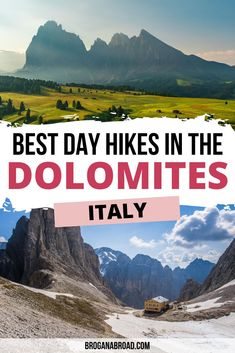 Best Hikes in the Dolomites, Italy | Best hiking trails in the Dolomites, Italy | Hiking Tips for the Dolomites, Italy | Best hiking routes in the Dolomites, Italy | Best short hikes in the Dolomites, Italy | Best day hikes in the Dolomites, Italy | Best multi-day hikes in the Dolomites, Italy #dolomites #italy #hiking #travel European Travel Tips, Italy Travel Tips, Best Countries In Europe, Backpacking Europe, Best Hikes, Cool Places To Visit, Adventure Travel, Hiking, Walks
