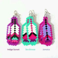 Pendientes de perler beads