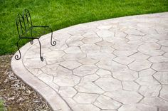 love this stamped concrete patio exterior facade pinterest