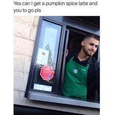 Haha just kidding, i don't want a pumpkin spice latte. Memes Do Dia, Memes Estúpidos, Funny Memes, Funny Cute, The Funny, Hilarious, Haha, Frases Humor, Pumpkin Spice Latte
