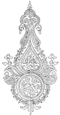 what is kantha embroidery Motif Art Deco, Art Nouveau Design, Batik Pattern, Paisley Pattern, Piercing, Hand Embroidery Designs, Embroidery Patterns, Balinese Tattoo, Tattoo Painting