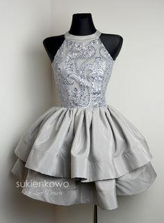 ROSITA - Wyjątkowa tiulowo koronkowa sukienka ecru
