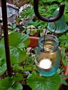 DIY Candles DIY Home DIY Crafts :Original DIY Garden Candle Holders Of Vintage Jars