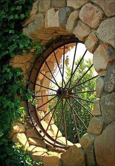decorated wagon wheel   decorating with wagon wheel