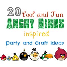 Angry Birds Craft and Party ideas. I love angry birds Bird Birthday Parties, Birthday Fun, Birthday Ideas, Festa Angry Birds, Festa Party, Party Party, Bird Crafts, Star Wars Party, Good Good Father