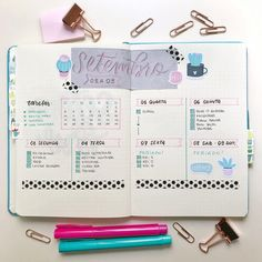 Bullet Journal Weekly Spread | Planejamento da semana Setembro #bulletjournal #bulletjournalideas Bullet Journal Diy, Bullet Journal Writing, Bullet Journal School, Bullet Journal Aesthetic, Bullet Journal Tracker, Bullet Journal Inspiration, Bujo, Planners, Ideas Para Organizar