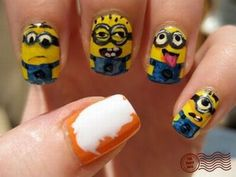 dispicable me nails!!