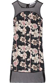 Elizabeth and James Klaus floral-print silk and mesh dress | NET-A-PORTER