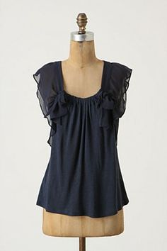not sure i would like the flowy-drapy cap sleeves, but i love the gathered neckline!