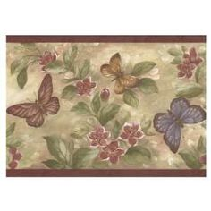wholesale wallpaper wallcoverings | Brewster Wallcovering Butterflies Wallpaper Border BR7320