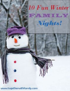 Winter can be a tough time. It has been icing and snowing day after day here for a month straight and everything (including church) has been cancelled a LOT! Cabin fever can set in fast!! However, winter can also be a nice time to really connect with your family. Why? You are often stuck