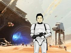 Stormtrooper Photoshop Vector by gianmulya