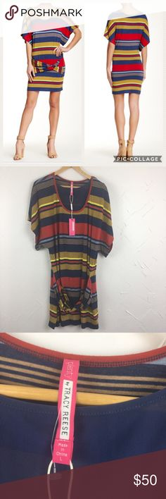 "Plenty by Tracy Reese Striped Twist Tunic Dress Twisted drop waist detail. Colorblock Bodycon mini. Scoop neck. Approximately 35"" length. New with tags - excellent condition! Ships same day from a smoke free home. No trades 🎀 Plenty by Tracy Reese Dresses Mini"