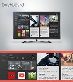 Smart TV UI by Jose Delgado, via Behance