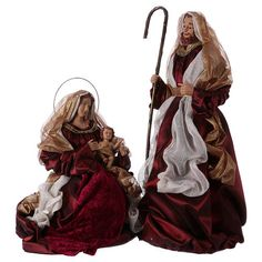 Nativité 67 cm 2 pcs couleur rouge et or Holy Art, Arabian Nights, Favorite Holiday, Merry Christmas, Tejido, Christmas, Red Fabric, Nativity Sets, Religious Pictures