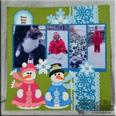 Ribbon Scrapbook Page from @Marti Wills