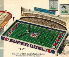 No. 20 Electric Football Game of All Time! The 1976 Sears Super Bowl with Haiti Steelers and Cowboys.